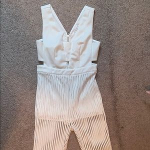 Jumpsuit with mesh legs